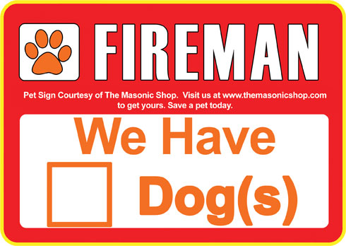 Dog Stickers For Firemen